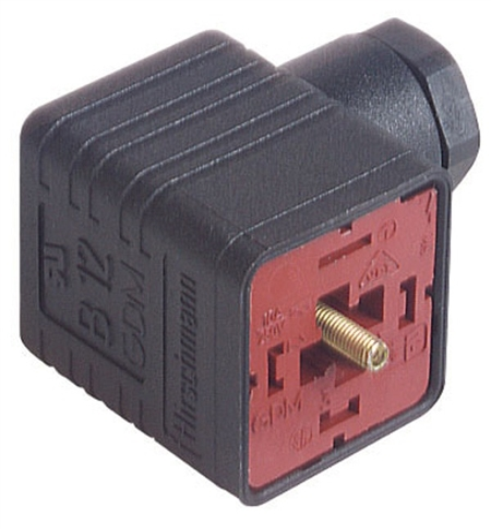 femelle à vis Hirschmann 2P+E DIN 43650 B électrovanne Connecteur GMN se Down